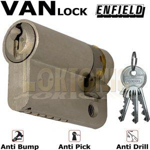 Enfield Half Euro High Security Cylinder Anti Drill Bump Locks For Vans Barrel