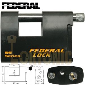 Federal FD731 Heavy Duty Rectangular Roller Shutter Van Shed Chain Padlock