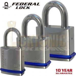 Federal Heavy Duty Solid Stainless Steel Marine Weather Resistant Padlocks