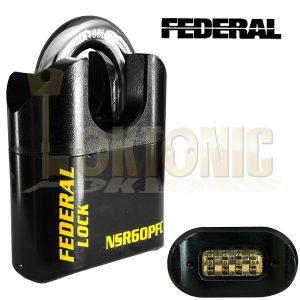 Federal NSR60P Heavy Duty 60mm High Security Combination Van Gate Garage Padlock
