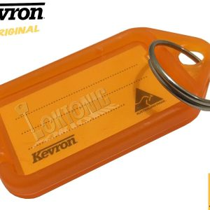 Kevron Pack 10 ID5 ORANGE 100% Genuine Plastic Clicktag Label Key Tags Click Tag