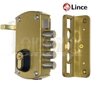 Lince 4 BOLT Rim High Security Euro Sash Bolt Lock Case 5 Secure Dimple Keys