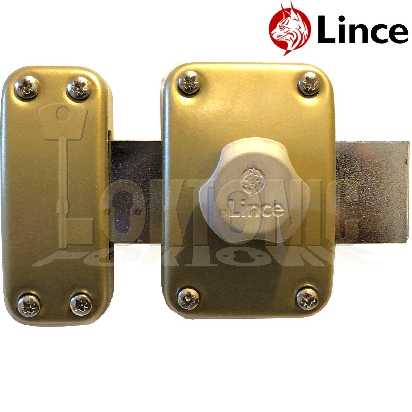 Lince Lock High Security Heavy Duty Garden Gate Shed Garage Rim Dead on
