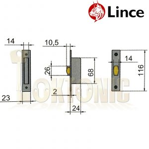 Lince Mortice Narrow Stile Small Roller Latch