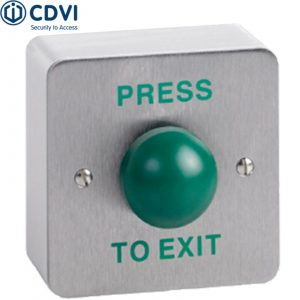 RTE-SSD Surface Green Dome Standard Stainless Steel Exit Button, High Impact