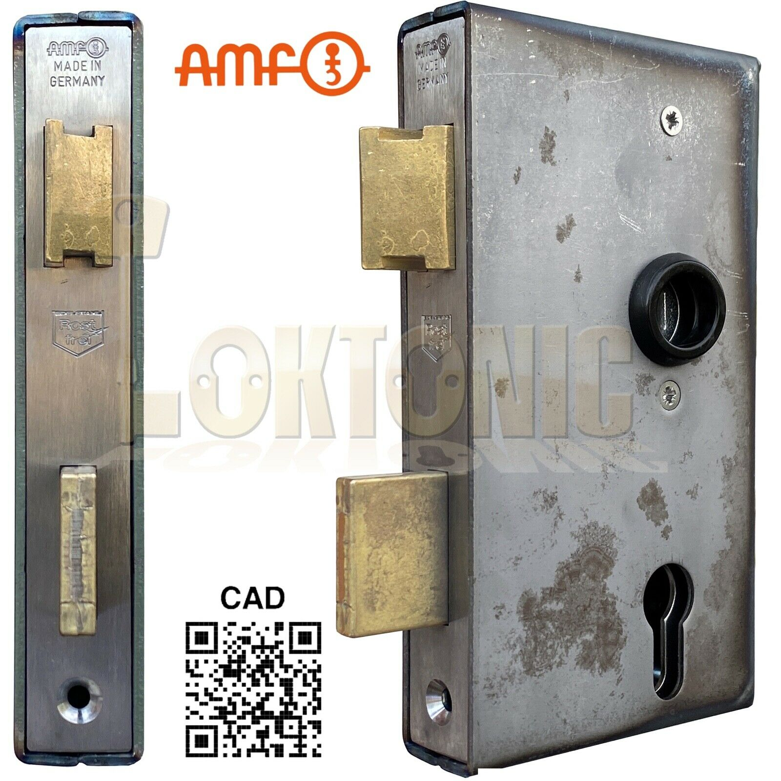 AMF 140UM-30 Heavy Duty Stainless Steel Cased Gate Sash Lock Wrought Iron Gates