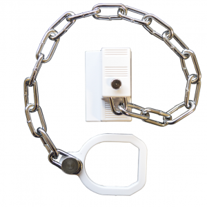 Asec White UPVC Door Chain Security Restrictor Lock Ring Extra Security