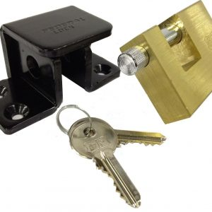 FEDERAL HIGH SECURITY SHED VAN LOCK BRACKET HASP PADLOCK COMBO FD3055 F8070