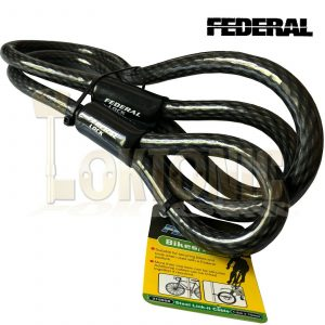 Federal 1.5m 15mm Motorcycle Quad Bike Heavy Duty Security Steel Loop Cable