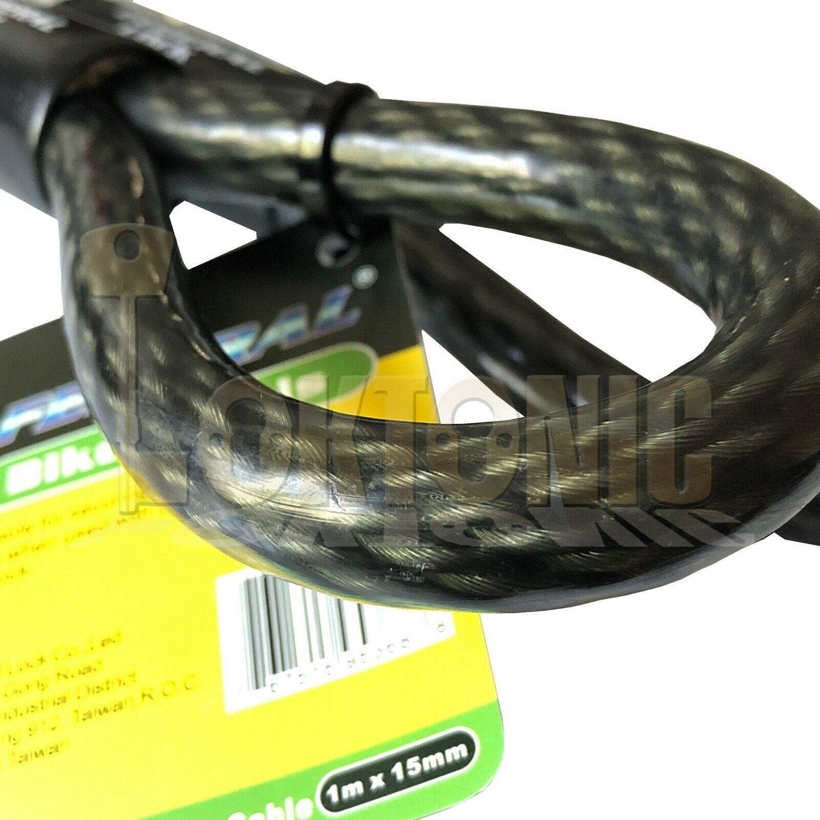 Federal 1.5m 15mm Motorcycle Quad Bike Heavy Duty Security Steel Loop Cable