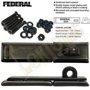 Federal FD2025 Security Hardened Steel Van Door Shed Gate Garage Hasp and Staple