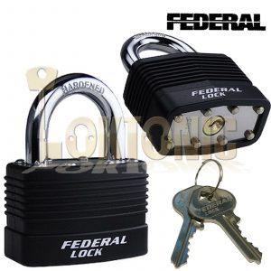 Federal High Security Weather Resistant Waterproof Shed Steel Padlock EL812