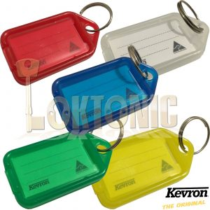 Kevron Pack 10 ID5 100% Genuine Plastic Clicktag Label Key Tag 5 X Colours