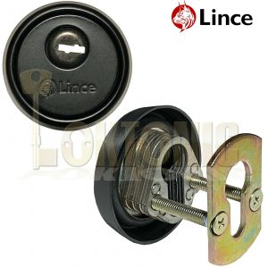 Lince Black High Security Euro Cylinder Escutcheon Keyhole Cover Plate Van Doors