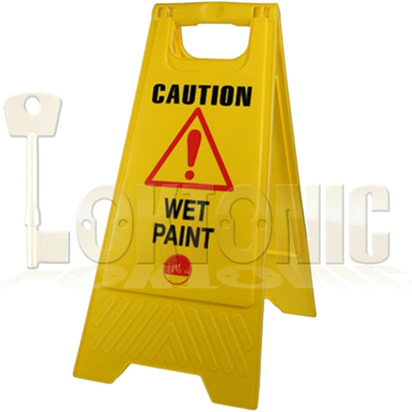 Professional Caution Shield A-Frame Safety Warning Sign Wet Paint 610 x 300 x 30