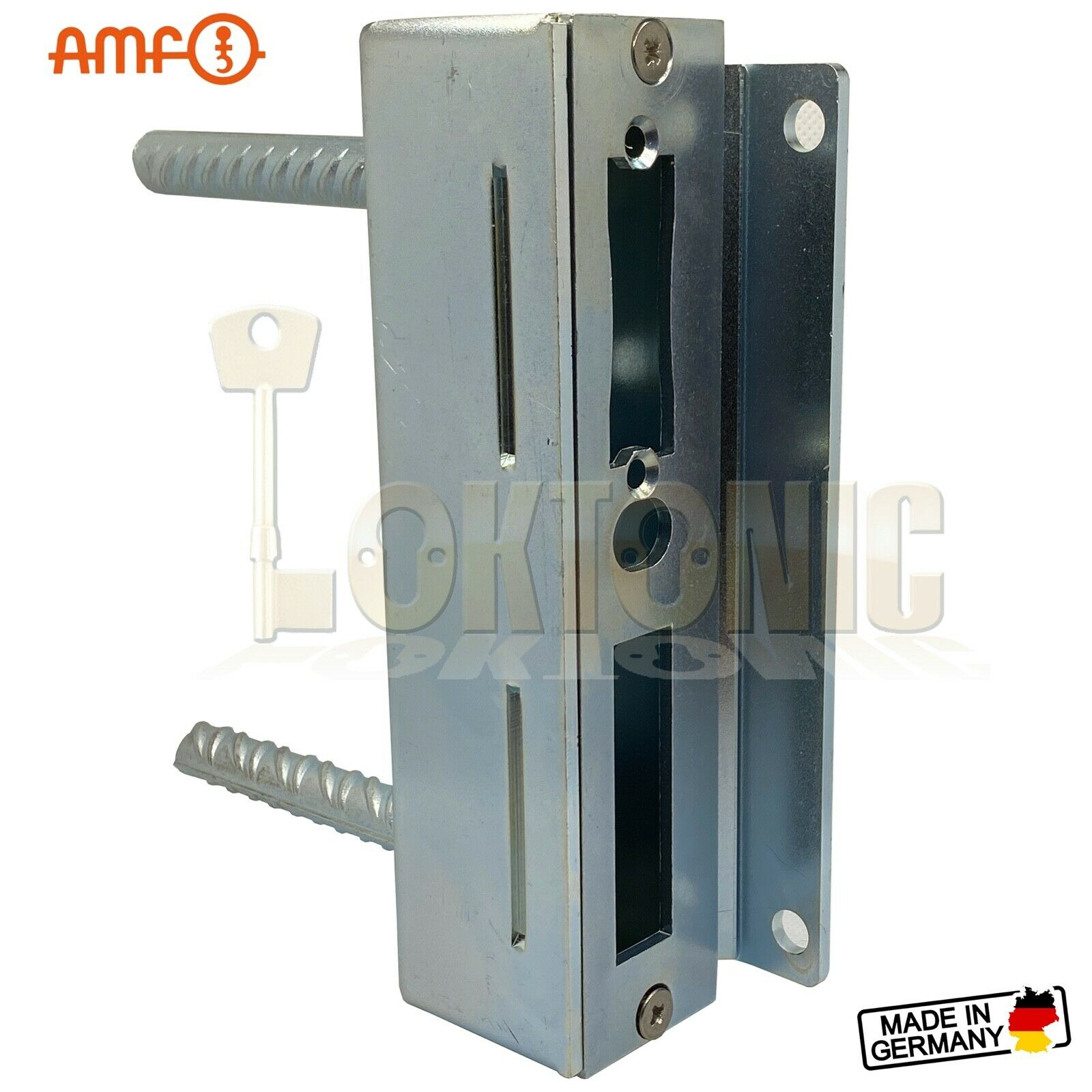 AMF 147-40 Heavy Duty Zinc Plate Steel Cased Striker Wrought Iron Gate Brickwork