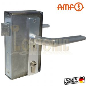 AMF Heavy Duty Wrought Iron Cased Gate Sash Lock Kit with 5 Security Dimple Keys