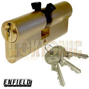 Enfield Contract 363 Mortice Twin Split Cam Euro Double Deadlock Cylinder Barrel