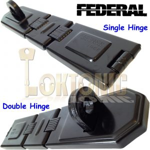 FEDERAL SUPER HIGH SECURITY GARAGE SHED VAN HASP AND STAPLE FD1076 FD1086