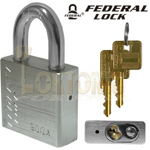 Federal 200A 50mm High Security Weather Resistant Solid Aluminium Padlock