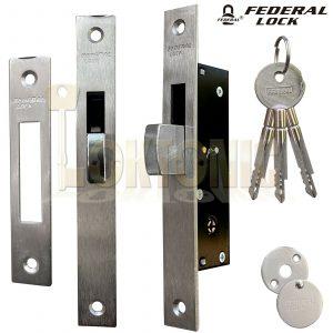 Federal FD-TX190F Narrow Stile Sliding Van Door Swing Dead Bolt Lock Shed UPVc