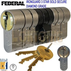 Federal High Security Composite Euro Anti Snap Bump Pick Cylinder uPVC Door Lock