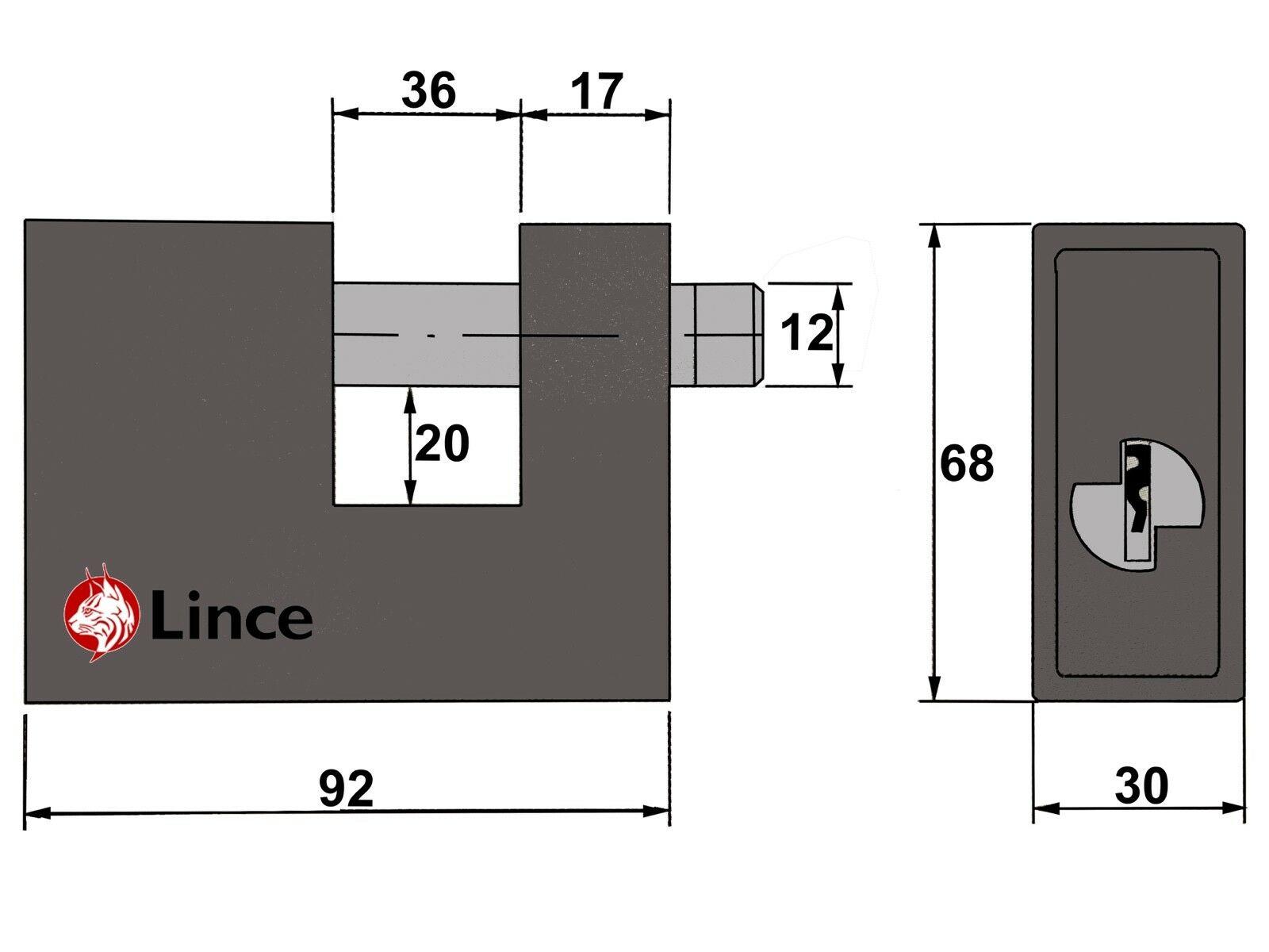 Lince Heavy Duty 90mm Plug Ground Anchor Bolt Lock Roller