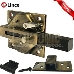Lince High Security Heavy Duty Garden Side Gate Shed Garage Sliding Bolt Lock