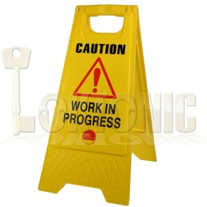 Professional Caution A-Frame Safety Warning Sign Work In Progress 610 x 300 x 30