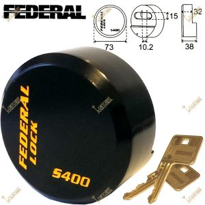 Federal FD400S 73mm Round Puck Van Garage High Security Hardened Steel Padlock