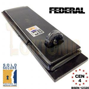 Federal FD4025 FD730 Sold Secure CEN 4 Heavy Duty Shed Garage Gate Hasp Padlock