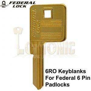 Federal Genuine FDKB6 6RO Key Blanks To Fit Any 6 pin Federal Padlocks
