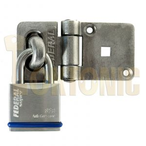 Federal Heavy Solid Stainless Steel Shed Garage Hasp Padlock Combo FD702 FD850