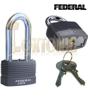 Federal High Security Weather Resistant Long Shackle Steel Padlock EL801-50