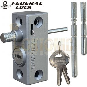 Federal Window Bolts French Doors Lock Catches heavy Duty Security Sliding Patio