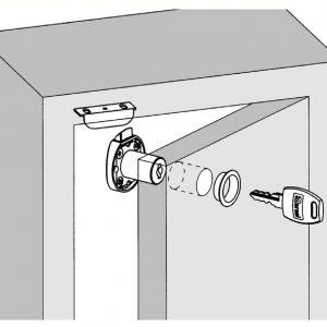 Meroni ME2635 Cupboard Filing Cabinet Latch Office Furniture Drawer Locker Locks