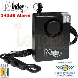 Minder Personal 143dB Sold Secure Panic Rape Attack Alarm Strobe Torch 5yr Warra