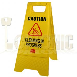 Professional Caution A-Frame Safety Warning Sign Cleaning In Progress 610 x 300