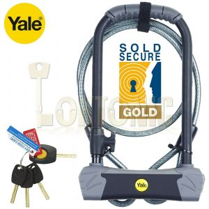 Yale YUL3 Maximum Security Heavy Duty Bike Quad U-Lock with Cable