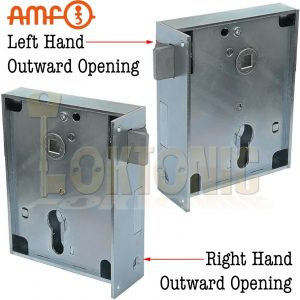 AMF Heavy Duty Rim Lock Outward Opening Wood Shed Gate Sashlock Made In Germany