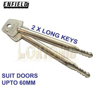 Enfield Federal Garage Door Bolts Locks LONG Key Singles LH-RH High Security MK3