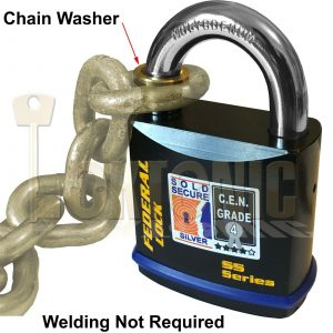 Federal Chain Retaining Washer For FD730 11mm Diameter Shackle Padlock