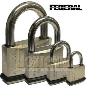 Federal Weather Resistant Waterproof Stainless Steel Shackle Brass Padlock NPS