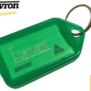 Kevron Pack 10 ID5 GREEN 100% Genuine Plastic Clicktag Label Key Tags Click Tag