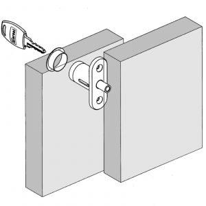 Meroni ME2667 Pedestal Sliding Cabinet Plunger Office Furniture Cupboard Lock