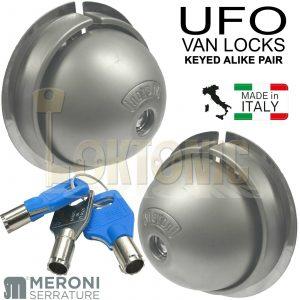 Meroni ME8080 UFO Van Door Locks Pair Same Key KA Gates Sheds Glass Doors