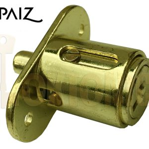 Papaiz ART42/25mm Sliding Glass Wooden Door Push Cylinder Plunger Lock Furniture