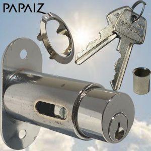 Papaiz Sliding Glass Showcase Wooden Door Push Cylinder Plunger Lock Furniture