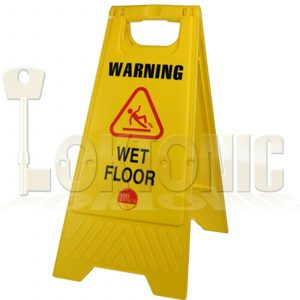 Professional Caution Shield A-Frame Safety Warning Sign Wet Floor 610 x 300 x 30