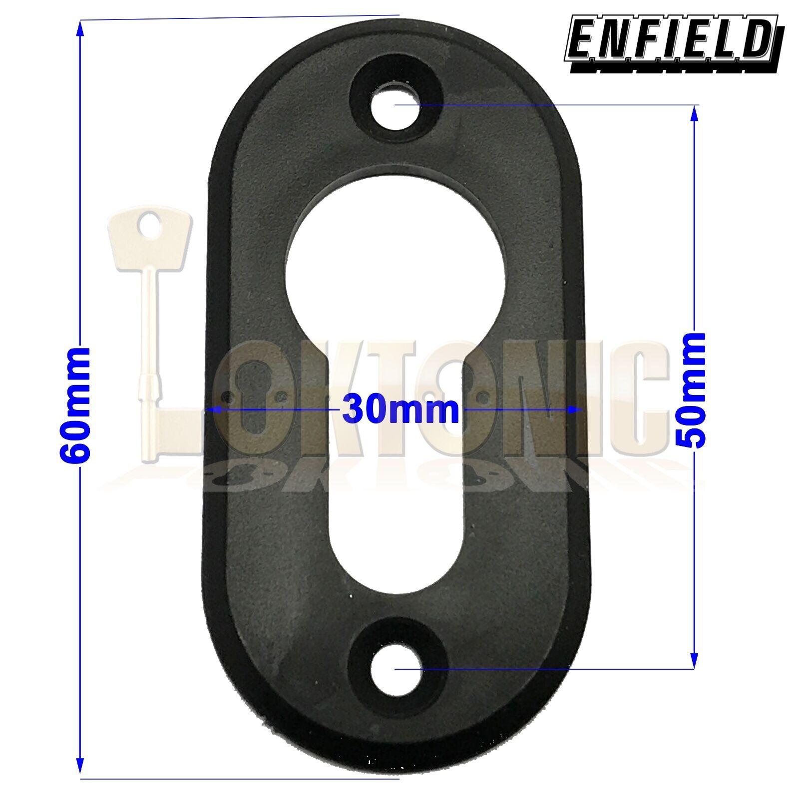 Enfield Black Plastic Euro Cylinder Escutcheon Keyhole